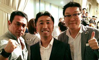 [中]内藤大助元世界チャンピオン・[左」クリエイトプロモーション 平野社長と