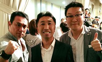 [中]内藤大助元世界チャンピオン・[左」クリエイトプロモーション 平野社長と-1