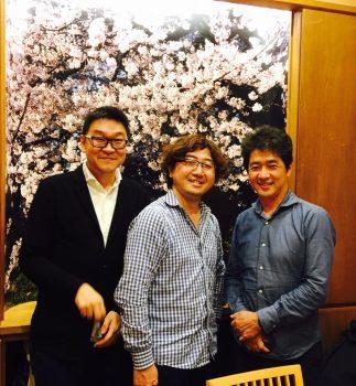 [中]LINE 元CEO、C Channelの森川亮社長 ・[右]政経電論編集長の佐藤尊徳氏と-1